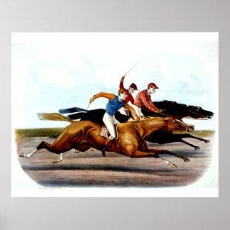 Carrera de caballos SUPERIOR del amor Póster