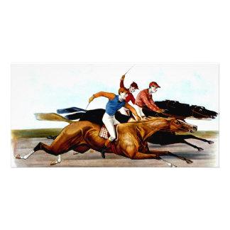 Carrera de caballos SUPERIOR del amor Tarjeta Fotografica