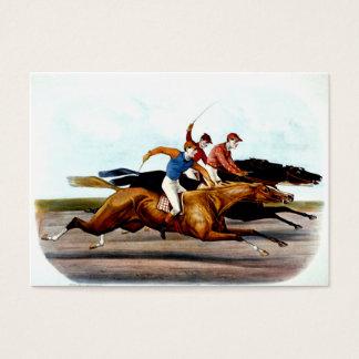 Carrera de caballos SUPERIOR del amor Tarjetas De Visita Grandes