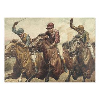 Carrera de caballos SUPERIOR Tarjetas De Visita Grandes