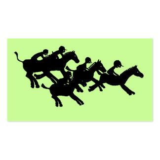 carrera de caballos plantillas de tarjetas personales