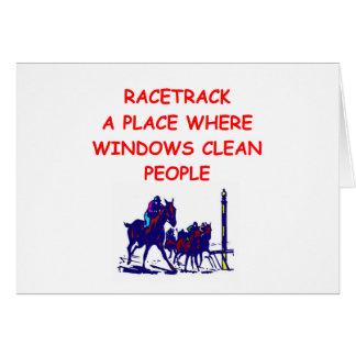 carrera de caballos tarjeta de felicitación