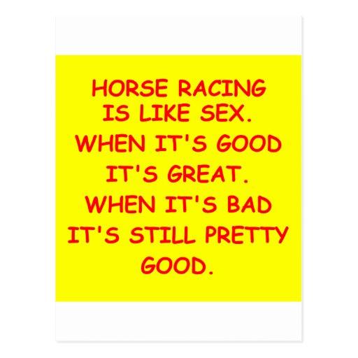 carrera de caballos tarjeta postal