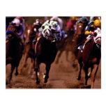 Carrera de caballos tarjetas postales