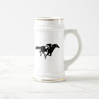 Carrera de caballos jarra de cerveza