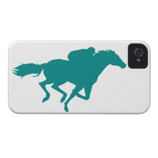 Carrera de caballos verde del trullo iPhone 4 fundas