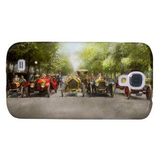 Carrera de coches - aférrese a sus gorras 1915 funda para galaxy s4