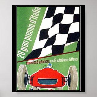 carrera de coches Italia Monza del poster de la im