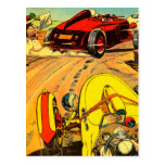 Carreras de coches del coche de carreras - arte de postales