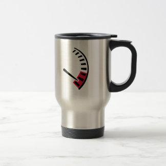 Carreras de coches del velocímetro tazas de café