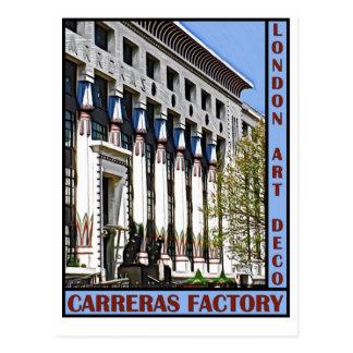 Carreras Factory, London Postcard