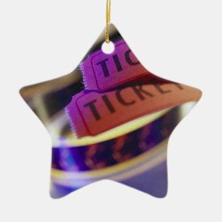 Carrete de boletos adorno de navidad