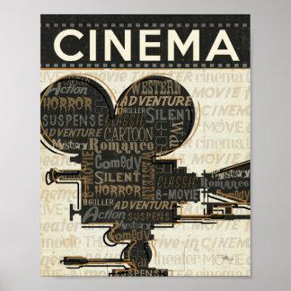 Carrete de la cámara de película póster
