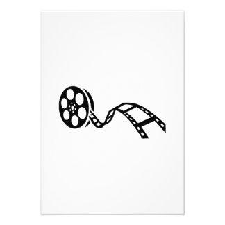 Carrete de la película de cine comunicado