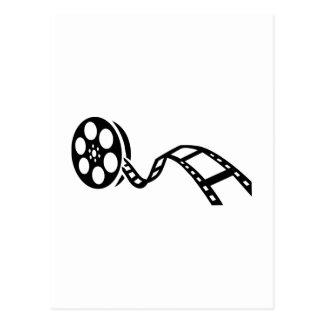 Carrete de la película de cine postal