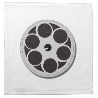 Carrete de la película de cine servilleta imprimida