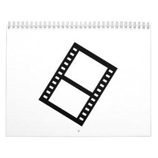 Carrete de la película de la película calendario