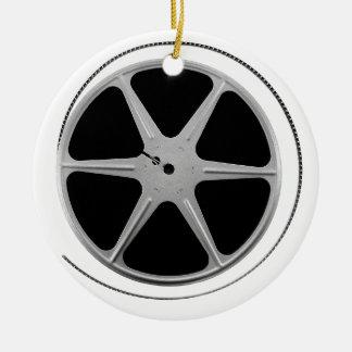 Carrete de la película ornamento para arbol de navidad