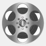 Carrete de la película pegatinas redondas