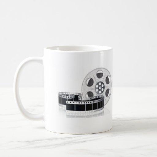 Carrete de la película taza de café