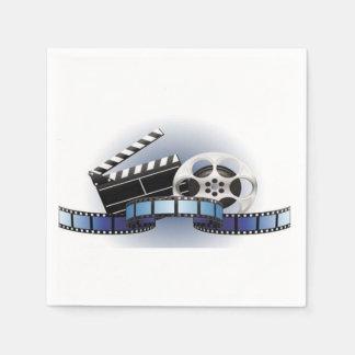 Carrete de la película y servilletas de papel de