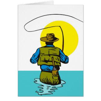 Carrete del bastidor del pescador de la mosca con  tarjeton