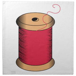 Carrete del hilo servilletas imprimidas