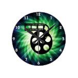 Carrete fresco de la película de cine reloj de pared