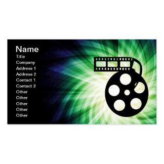 Carrete fresco de la película de cine tarjetas de visita