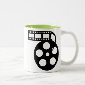 Carrete fresco de la película de cine taza de dos tonos