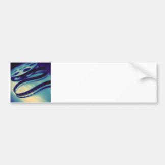 Carrete oscuro de la película etiqueta de parachoque