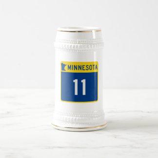 Carretera 11 del tronco de Minnesota Jarra De Cerveza