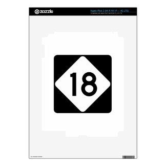 Carretera 18 de Carolina del Norte iPad 3 Skin