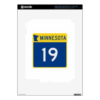 Carretera 19 del tronco de Minnesota Pegatina Skin Para iPad 3