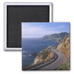 Carretera 1 a lo largo de la costa de California c Imán Cuadrado