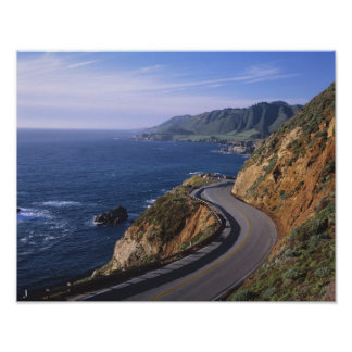 Carretera 1 a lo largo de la costa de California c Póster