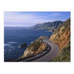 Carretera 1 a lo largo de la costa de California c Postales