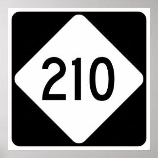 Carretera 210 de Carolina del Norte Póster