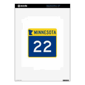 Carretera 22 del tronco de Minnesota Calcomanías Para El iPad 2
