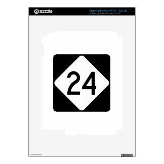 Carretera 24 de Carolina del Norte iPad 3 Pegatinas Skins