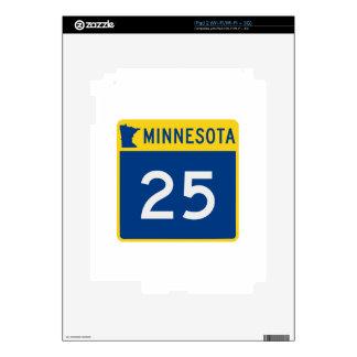 Carretera 25 del tronco de Minnesota Calcomanía Para El iPad 2