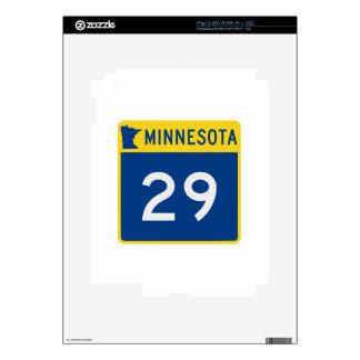 Carretera 29 del tronco de Minnesota iPad 2 Skin