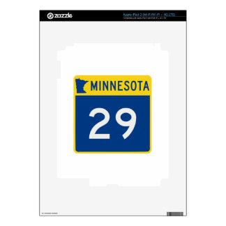 Carretera 29 del tronco de Minnesota Pegatina Skin Para iPad 3