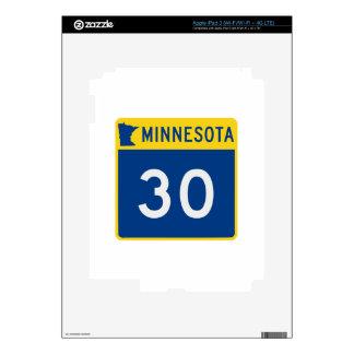 Carretera 30 del tronco de Minnesota iPad 3 Skins
