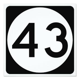 """Carretera 43 de Mississippi Invitación 5.25"""" X 5.25"""""""