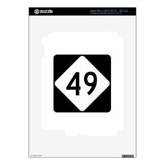 Carretera 49 de Carolina del Norte iPad 3 Skins