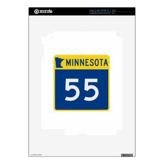 Carretera 55 del tronco de Minnesota Skins Para eliPad 2