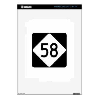 Carretera 58 de Carolina del Norte Pegatina Skin Para iPad 3