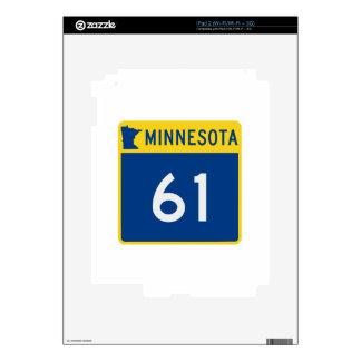 Carretera 61 del tronco de Minnesota Skins Para eliPad 2