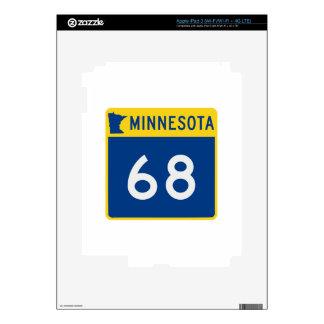 Carretera 68 del tronco de Minnesota Pegatina Skin Para iPad 3